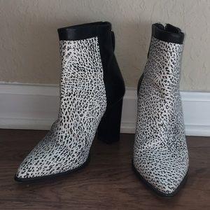 Loeffler Randall Leather Booties Size 7